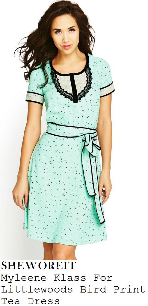 myleene-klass-pastel-mint-aqua-green-bird-print-short-sleeve-tea-dress-itv-studios
