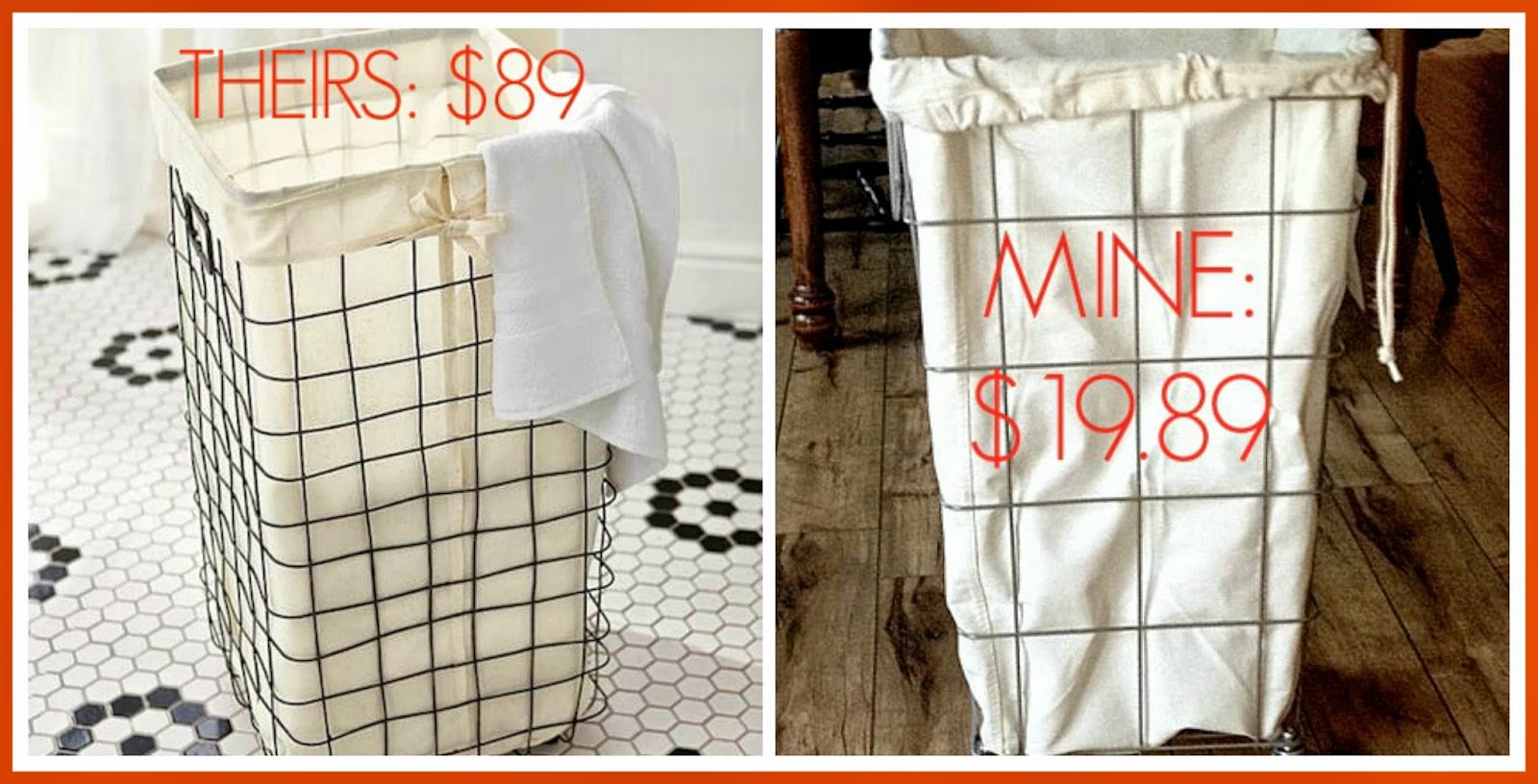 Our hopeful home french wire laundry hamper for less theirs 8900 mine 1989 solutioingenieria Image collections