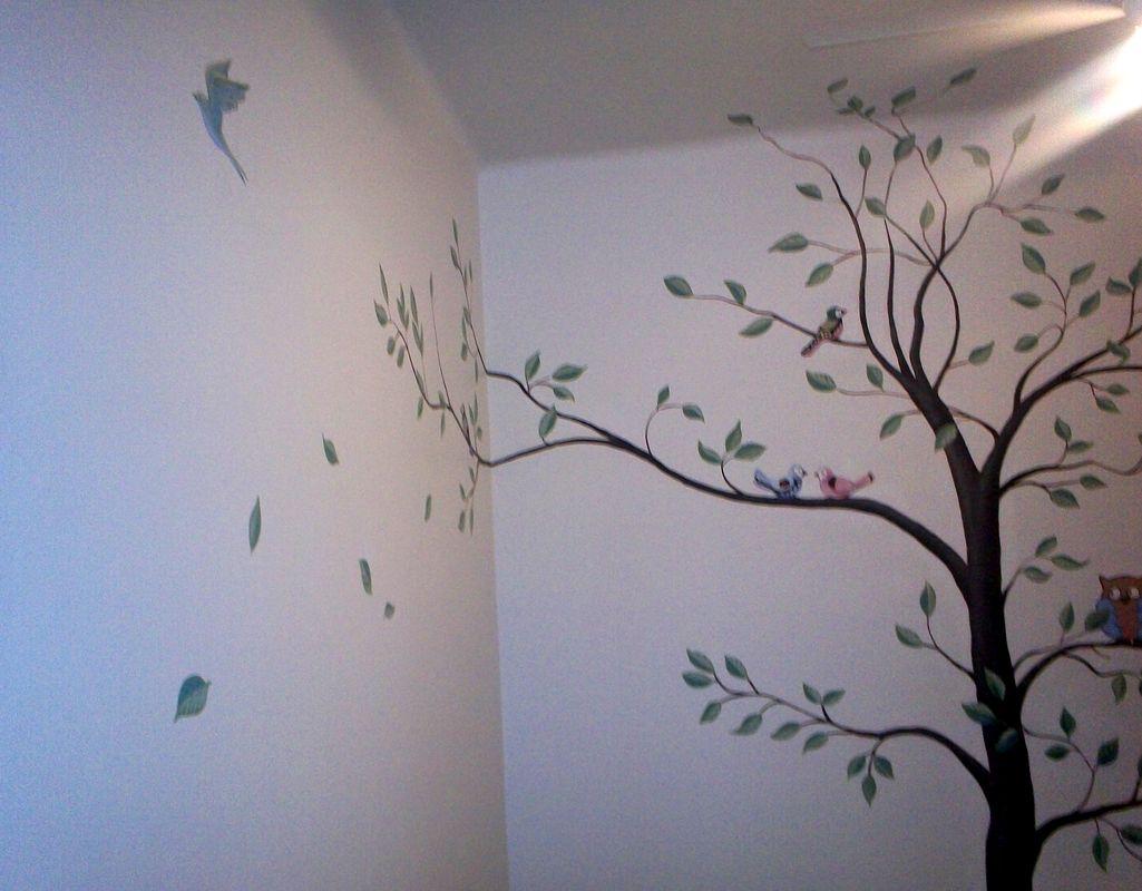 Murales infantiles mural arbol for Murales pintados en paredes de habitaciones