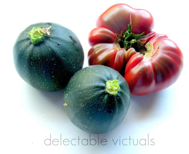 round zucchini home garden