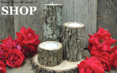 Rustic Tree Branch Wood Candle Holders-  Rustic Wedding Supplies