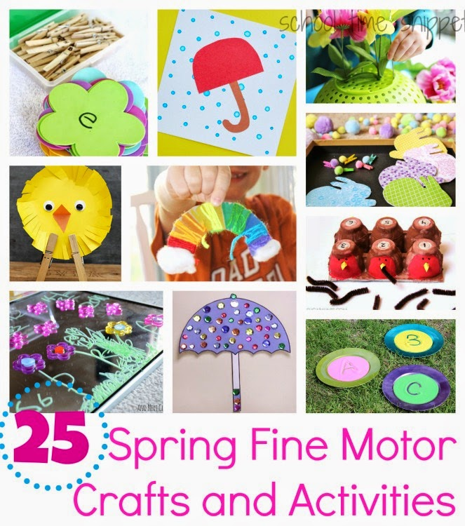 fine motor spring themed activities