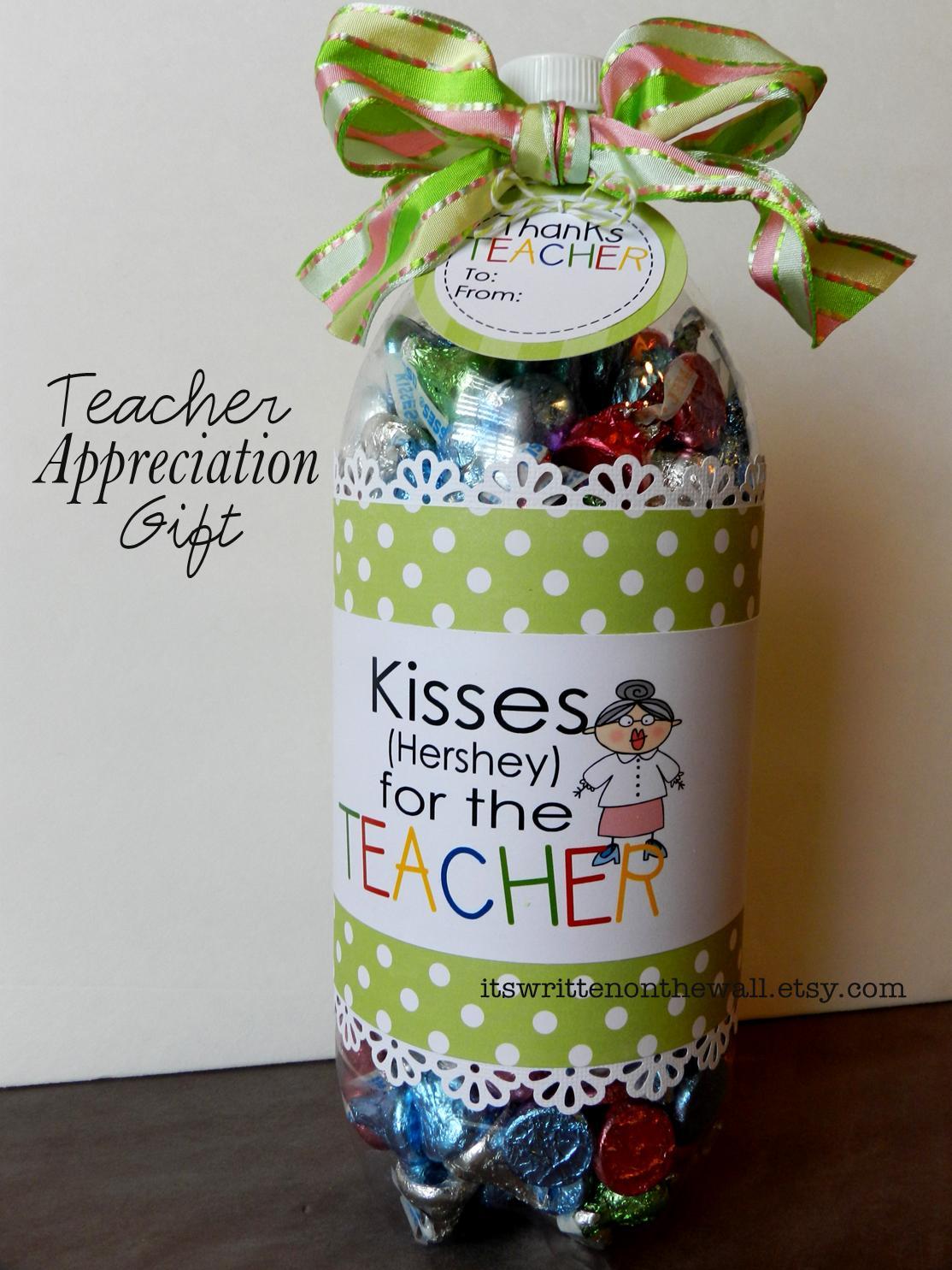 Teacher Appreciation Gift Ideas-Soda Bottle Filled with ...