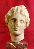Cabeza de Afrodita. Escultura griega