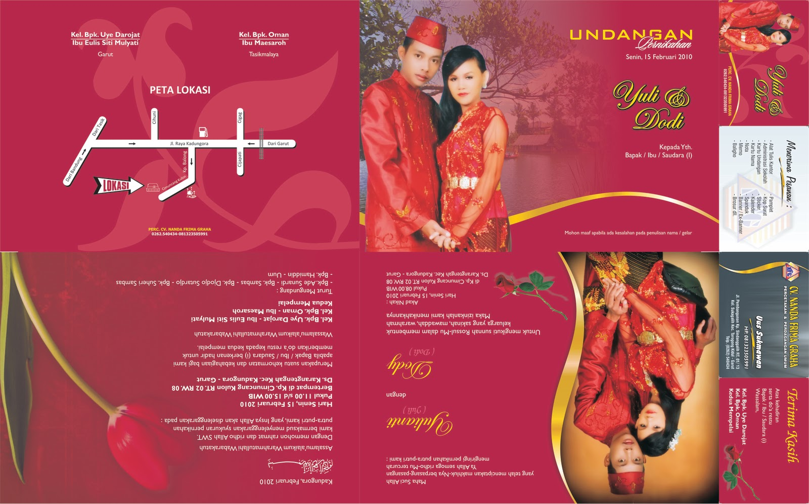undangan pernikahan floral undangan pernikahan bunga