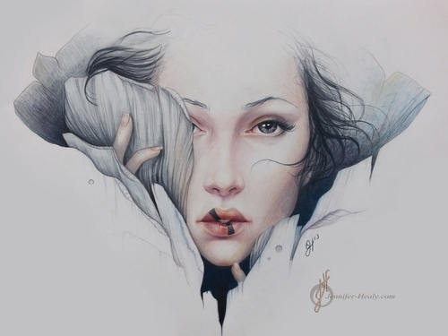 14-Empath-Jennifer-Healy-Traditional-Art-Color-Pencil-Drawings-www-designstack-co