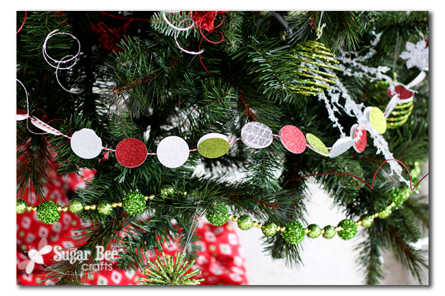 so you may have noticed the circle glitter garland or the mason lid ornaments stayed tuned for a future tutorial post on making those - Michaels Christmas Garland