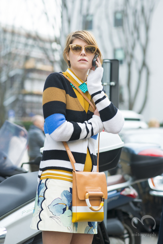 Stylist Elisa Nalin at Milan Fashion Week 2015-2016 Fall Winter MFW
