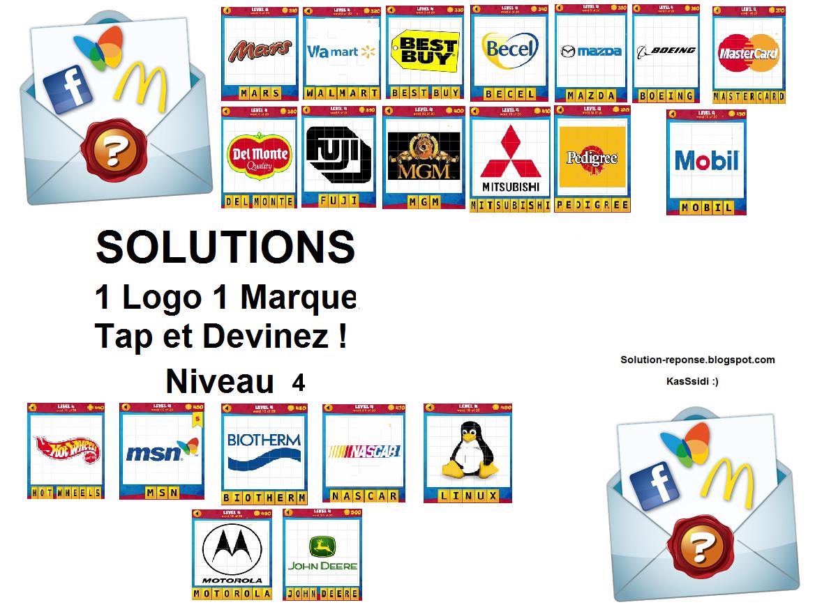 solution 1 logo 1 marque quiz niveau 4 toutes les solutions r ponses des jeux android iphone. Black Bedroom Furniture Sets. Home Design Ideas