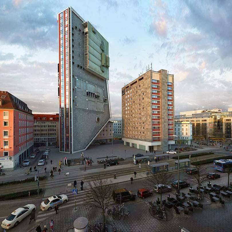 Building in munich re-imagined in 88 ways | Victor Enrich