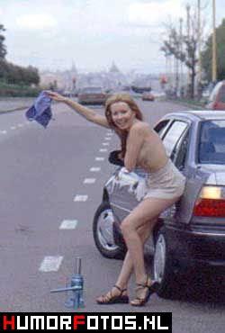 najsmjesnije slike sa autima, žena stopira