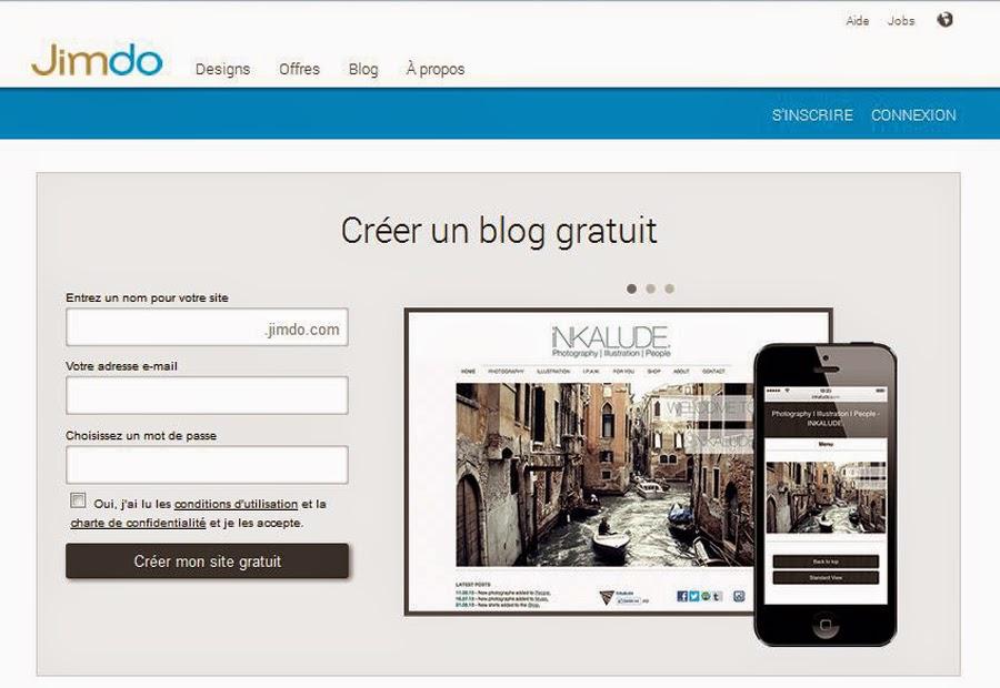 Créer un blog gratuit sans compétences informatiques avec Jimdo.