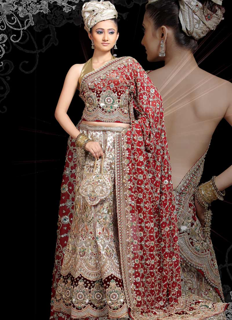 Today 39 s indian bridal wedding dresses beautiful hand for Indian bridal wedding dresses