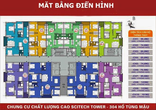 Thiết kế mặt bằng cư xá 304 Hồ Tùng Mậu