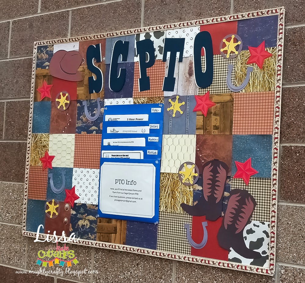 PTO Bulletin Board for Miss Kate Cuttables by Lissa
