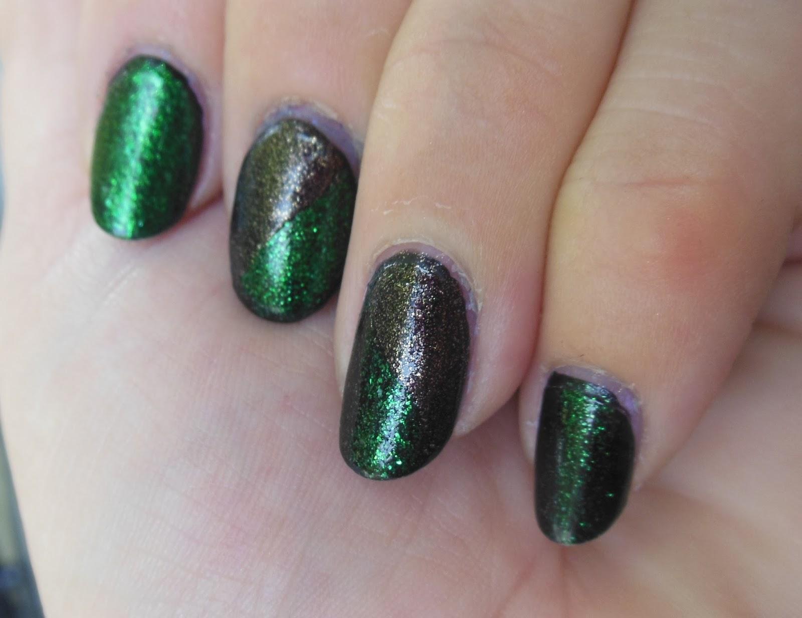 Nails: NOTW Julep\'s Cher, Shailene over Kleancolor\'s Black nail Polish