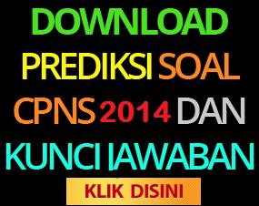 Kumpulan Soal-Soal TES CPNS 2014 dan Kunci Jawabannya
