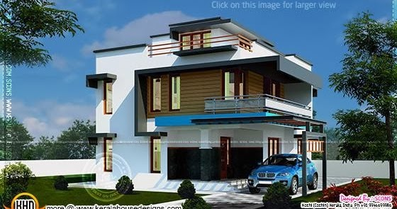 Modern 4 Bhk Home Exterior In 186 Square Yards Kerala