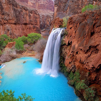 Cascadas Havasu en Arizona - USA amazing Waterfalls