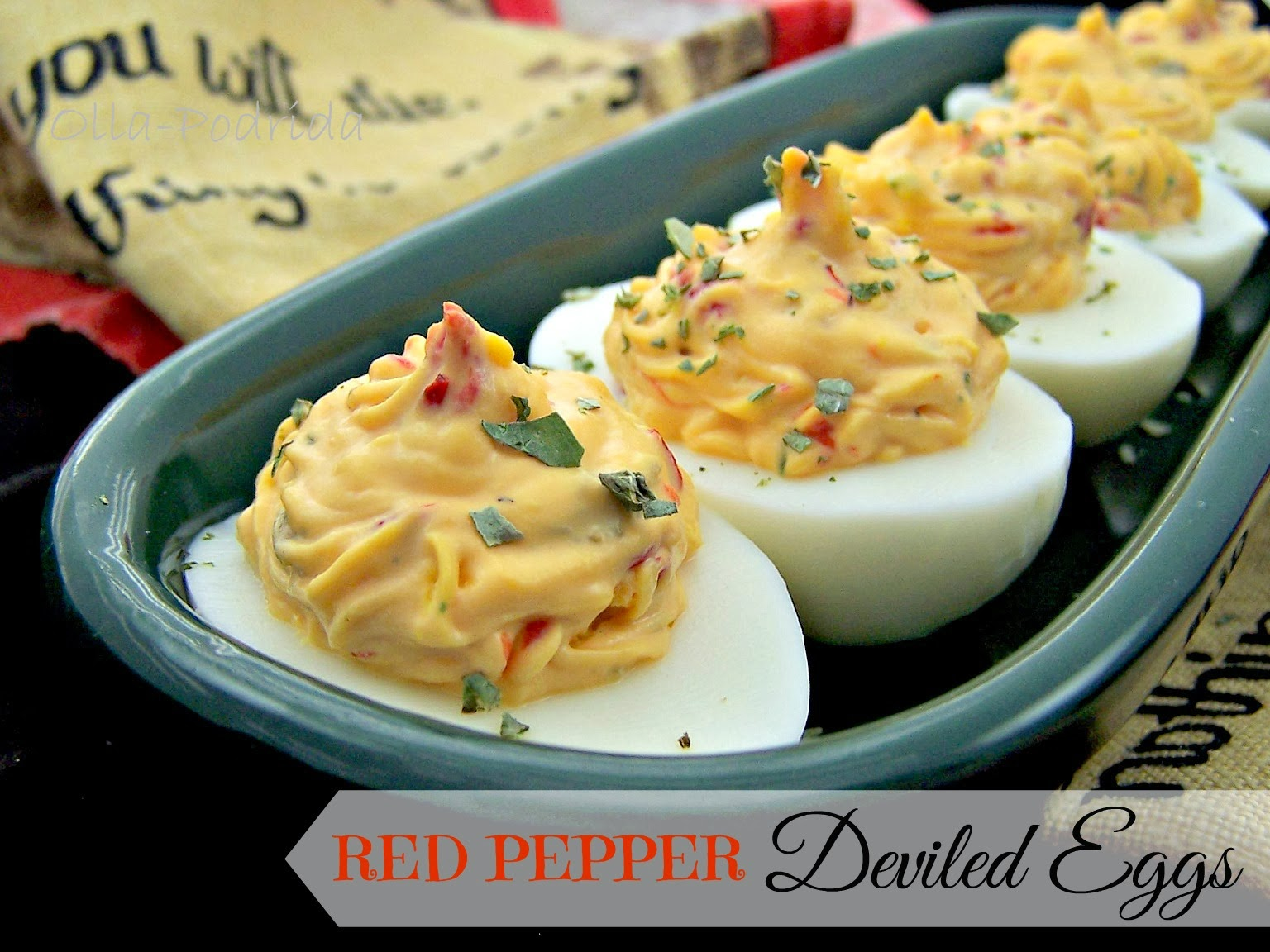 red pepper deviled eggs