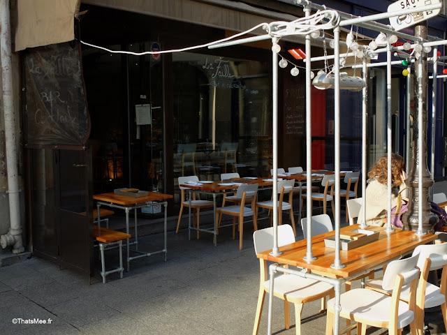 terrasse restaurant bar La Faille montorgueil paris rue Monmartre