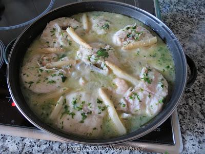 Merluza en salsa verde - Hake in green sauce