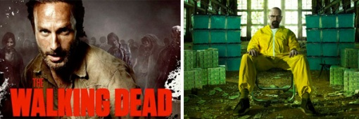 The Walking Dead Breaking Bad openings cabecera 1995 años noventa 90s series