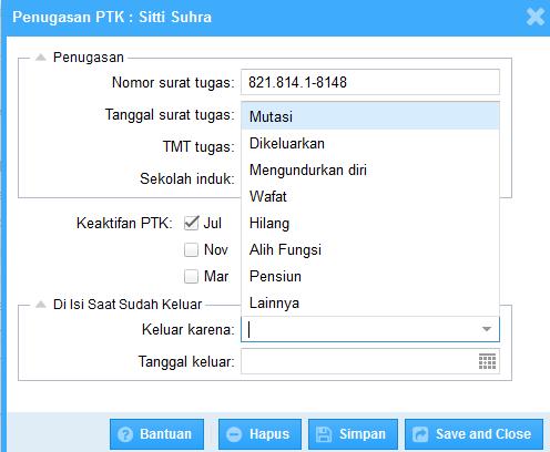 cara mengeluarkan PTK di dapodik 2014 versi 3.00