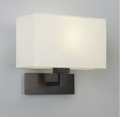 The AX0538 Park Lane Grande Bronze wall lamp with rectangular shade