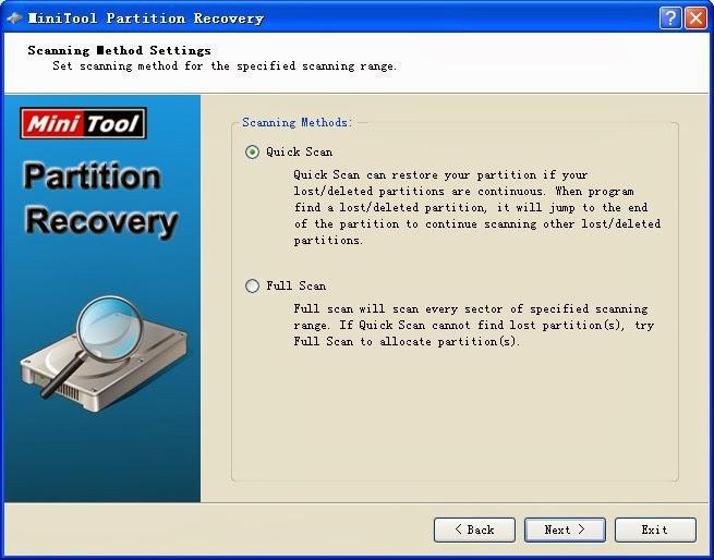 برنامج مجاني لأستعادة الأقسام المفقودة والمحذوفة بالكامل من الهارد ديسك لويندوز وماك - شرح بالصور MiniTool Partition Recovery 6.8