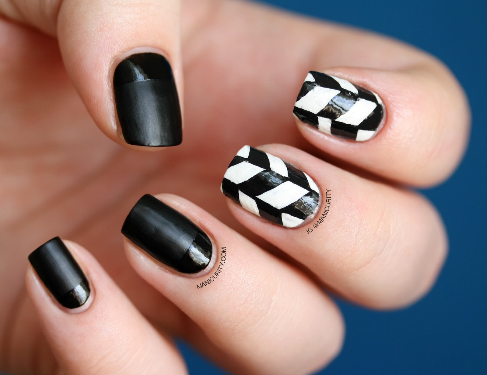 Manicurity The Digit Al Dozen Does Black White Edgy Freehand