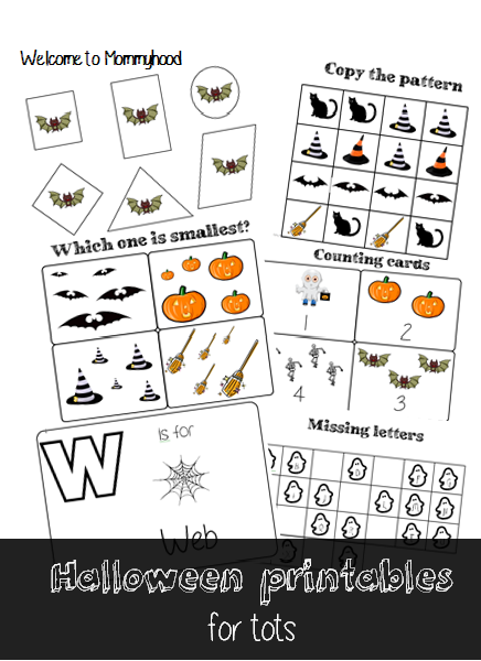 Halloween activities for toddlers & Free printables by Welcome to Mommyhood #halloweenactivitiesfortoddlers #halloweenactivities #montessori