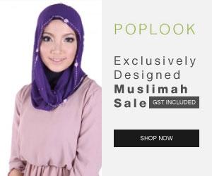 POPLOOK.com- Malaysia Online Shopping- Baju Kurung, Muslimah Dresses, Maxi Dresses, Jubah, Tudung