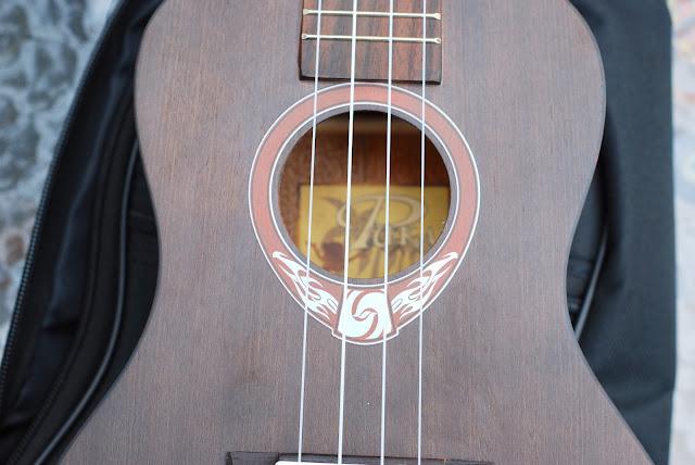 Puka PK PHC Ukulele soundhole detail