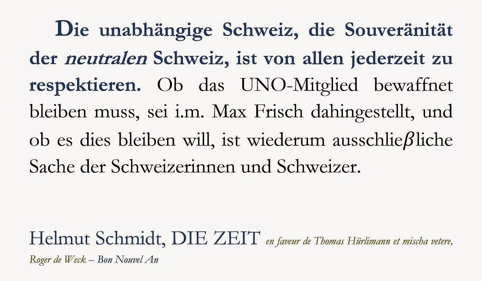helmut schmidt DIE ZEIT schweiz thomas hürlimann roger de weck mischa vetere exil berlin hamburg mf
