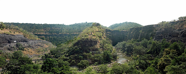 view from the Ajanta caves