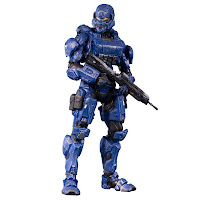Blue Spartan Halo Figure