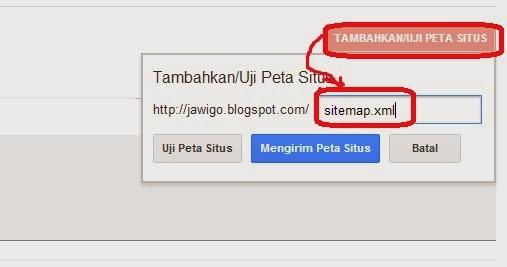 Cara Mempercepat Artikel Terindex Search Engine Google (Mendaftarkan Peta Situs ke Webmaster)