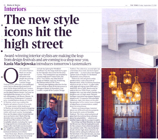 Cristian Zuzunaga The Times The new style icons hit the high street