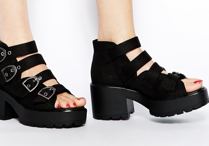 Chunky Buckle Sandals