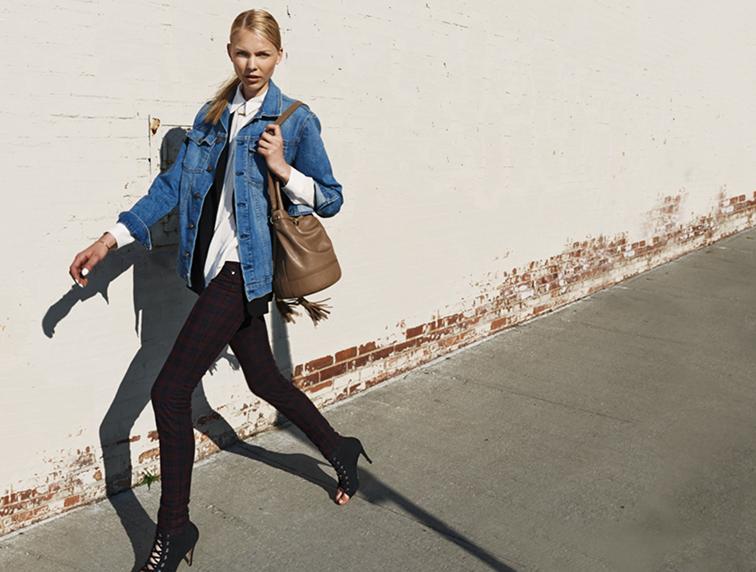 Saks 5th Avenue editorial with Current/Elliot denim & Joe's Jeans
