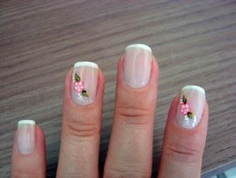 decoraziones de uñas - con piedras, acrilico, diseños de flores, lineas y lindos colores