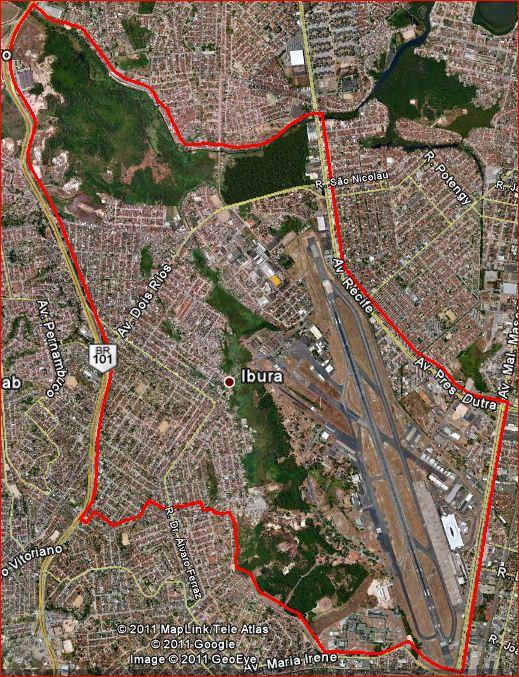 Recife Gestao Urbana Mapa Do Bairro Do Ibura Onde Fica O Aeroporto