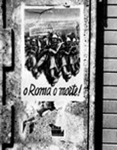 1944 MANIFESTO SUI MURI DI BERGAMO