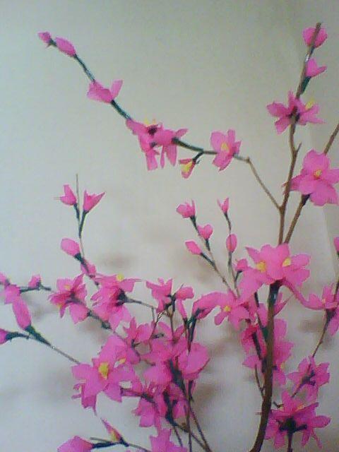 membuat bunga sakura dari kertas krep creepe kertas klobot kertas sawi