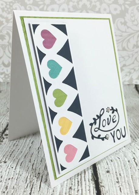 Cricut Artistry Heart Border card