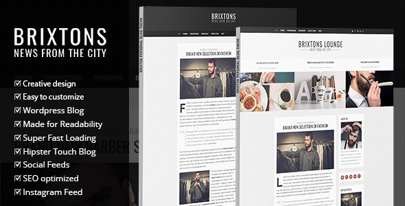 Free Download Brixton V2.0 Minimal & Personal WordPress Blog Theme