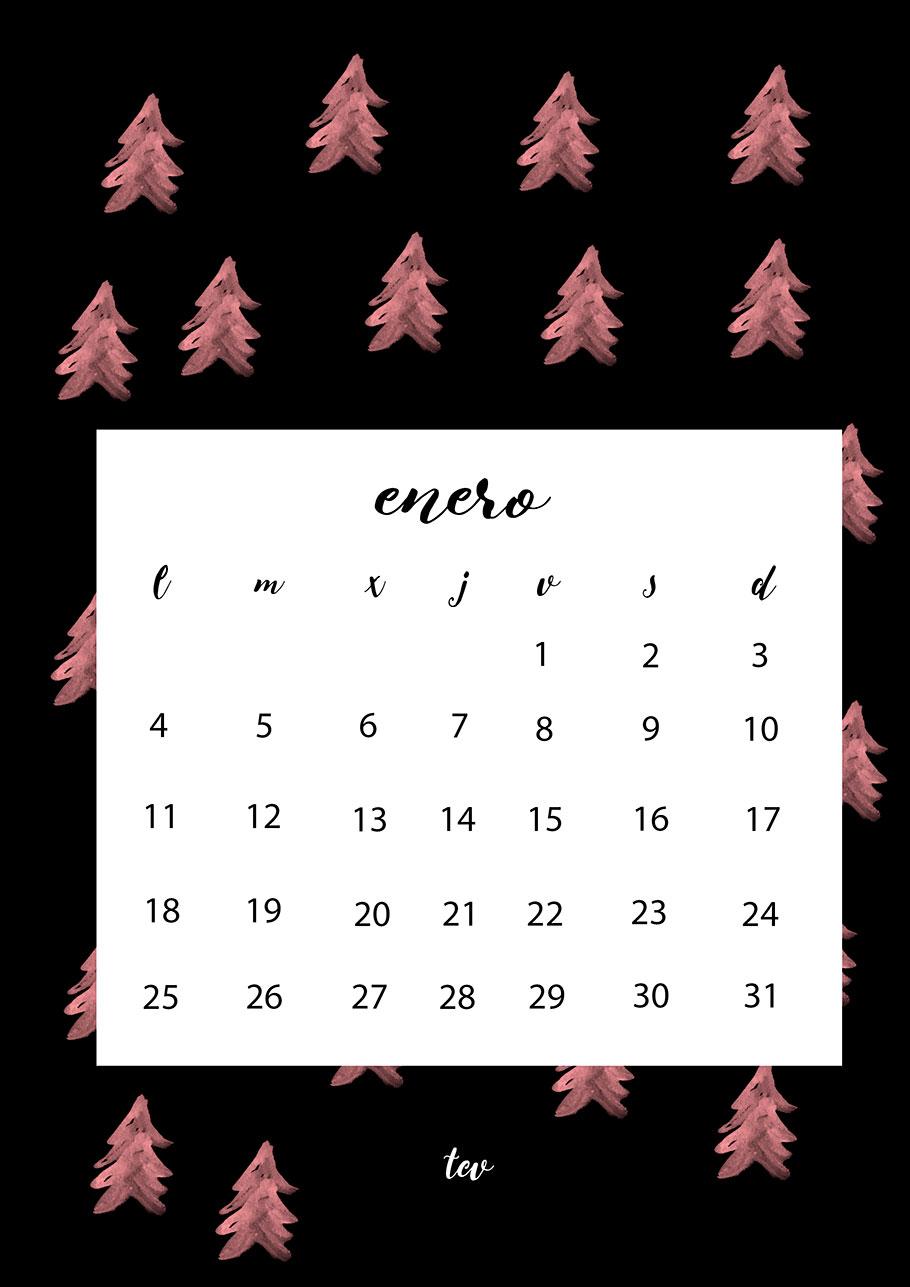 Caledario imprimible enero