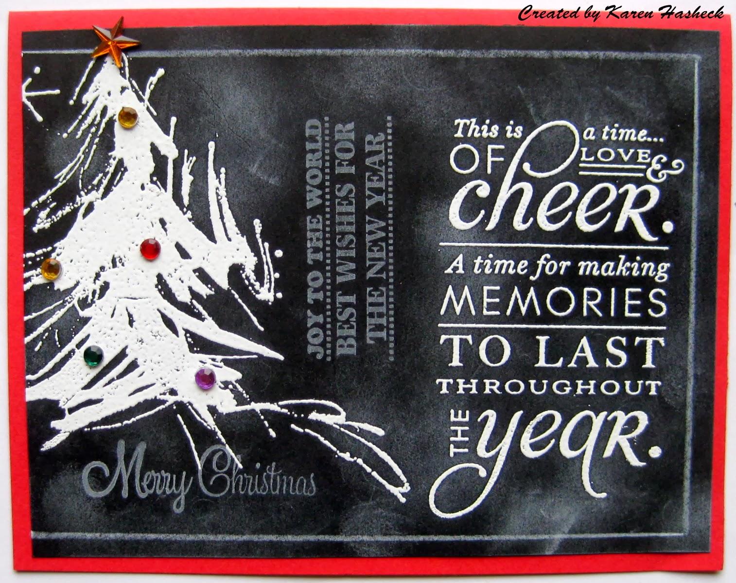 Karen39s kreative kards chalkboard christmas card for Chalkboard christmas cards