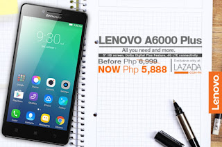 Lenovo A6000 Plus Now Only Php5,888 At Lazada
